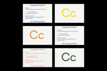 Business Cards, Carpenter Center for the Visual Arts, Harvard University, 2019