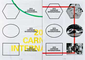 *2013 Carnegie International Identity Guide*, softcover, 18 pages, 11 × 17 in., self published, 2013