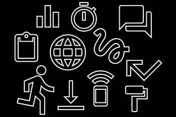Icon treatment, *SPAN* 2015, Google Material Design, New York, 2015